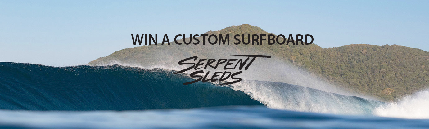 win a surfboard from serpent sleds